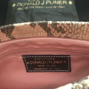 Donald J Pliner Nude/Iridescent Python Clutch